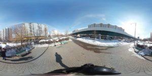 Обработанное панорамное фото из камеры Samsung Gear 360. Обработано Action Director