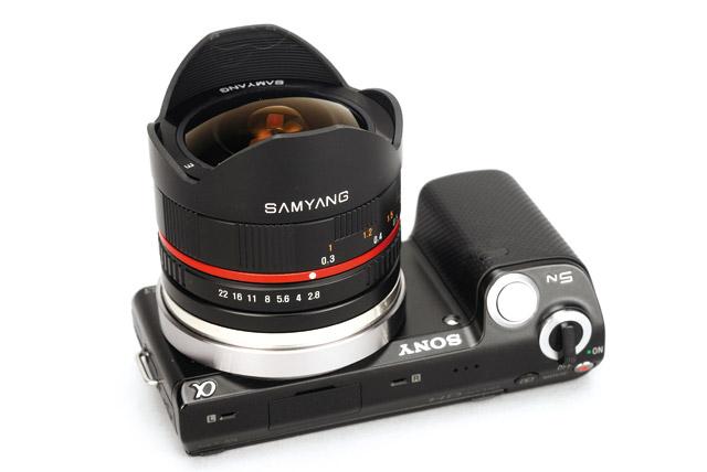 Sony Nex 5 + Samyang 8mm